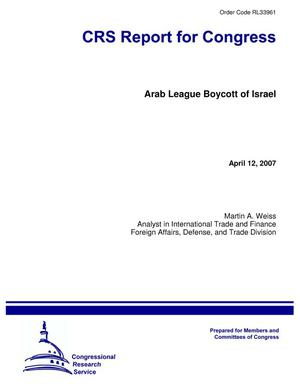 Primary view of object titled 'Arab League Boycott of Israel'.