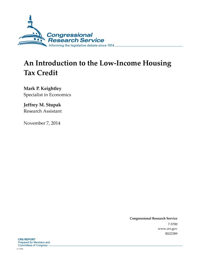 An Introduction to the Low-Income Housing Tax Credit - UNT Digital Library