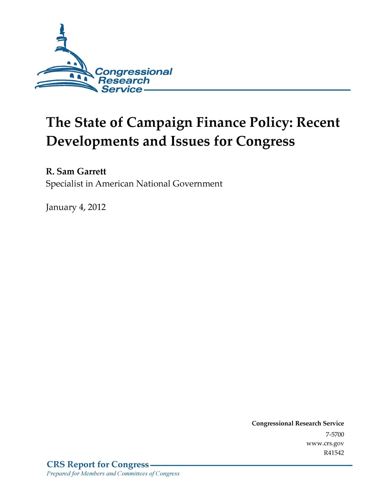 The financial policy of the state