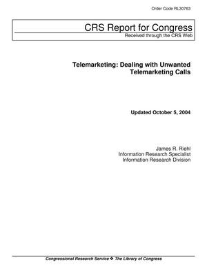 Primary view of object titled 'Telemarketing: Dealing with Unwanted Telemarketing Calls'.
