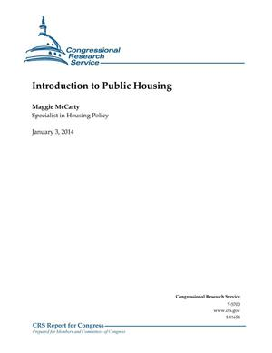 Primary view of object titled 'Introduction to Public Housing'.