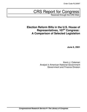 Primary view of object titled 'Election Reform Bills in the U.S. House of Representatives, 107th Congress: A Comparison of Selected Legislation'.