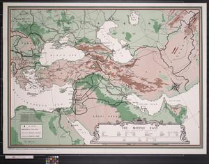 Primary view of object titled 'Newsmap : The Middle East'.