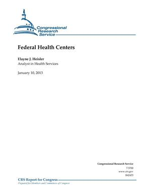 Primary view of object titled 'Federal Health Centers'.