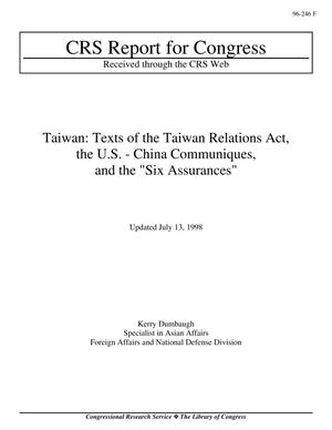 "Primary view of object titled 'Taiwan: Texts of the Taiwan Relations Act, the U.S. - China Communiques, and the ""Six Assurances""'."