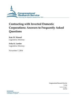 Primary view of object titled 'Contracting with Inverted Domestic Corporations: Answers to Frequently Asked Questions'.