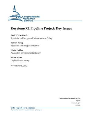 Primary view of object titled 'Keystone XL Pipeline Project: Key Issues'.