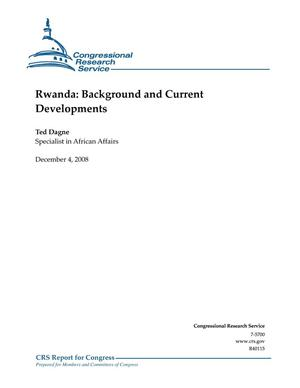 Primary view of object titled 'Rwanda: Background and Current Developments'.