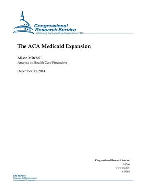 Primary view of object titled 'The ACA Medicaid Expansion'.