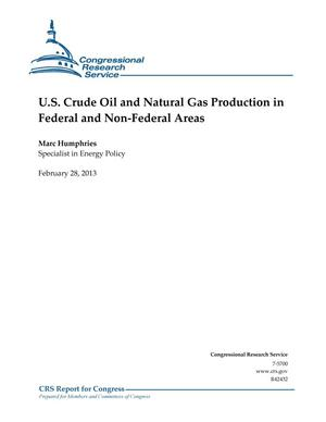 Primary view of object titled 'U.S. Crude Oil and Natural Gas Production in Federal and Non-Federal Areas'.