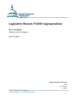 Primary view of object titled 'Legislative Branch: FY2010 Appropriations'.