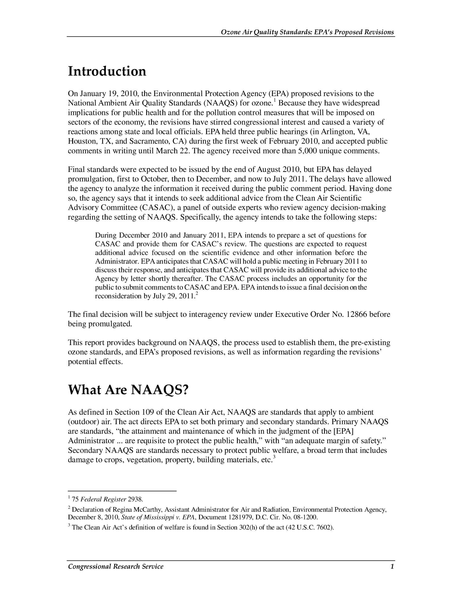 Ozone Air Quality Standards: EPA's Proposed Revisions                                                                                                      [Sequence #]: 4 of 15