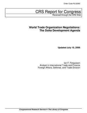 Primary view of object titled 'World Trade Organization Negotiations: The Doha Development Agenda'.