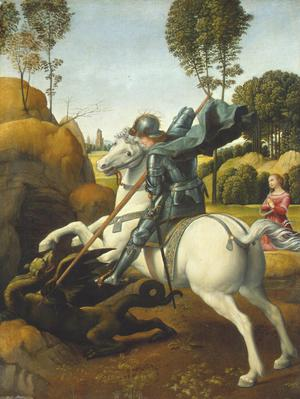 Primary view of object titled 'Saint George and the Dragon'.