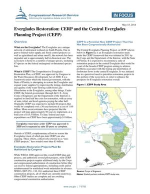 Primary view of object titled 'Everglades Restoration: CERP and the Central Everglades Planning Project (CEPP)'.