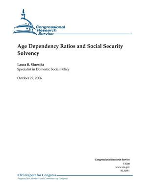 Primary view of object titled 'Age Dependency Ratios and Social Security Solvency'.