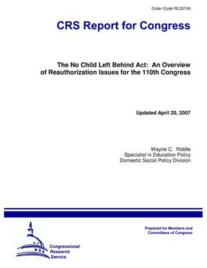 Primary view of object titled 'The No Child Left Behind Act: An Overview of Reauthorization Issues for the 110th Congress'.