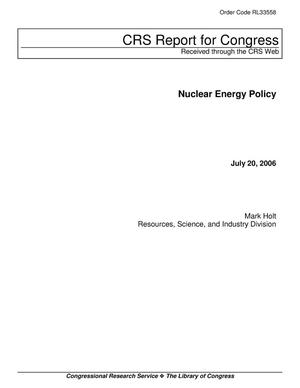 Primary view of object titled 'Nuclear Energy Policy'.