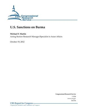 Primary view of object titled 'U.S. Sanctions on Burma'.