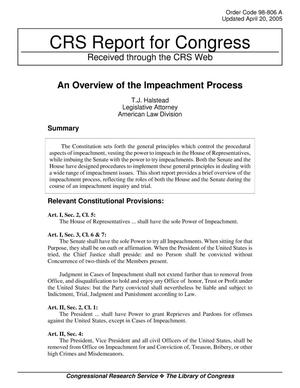 Primary view of object titled 'An Overview of the Impeachment Process'.