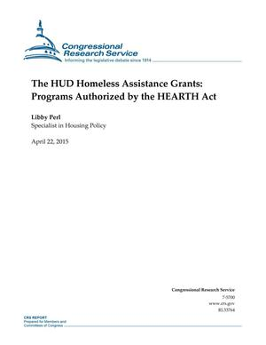 Primary view of object titled 'The HUD Homeless Assistance Grants: Programs Authorized by the HEARTH Act'.
