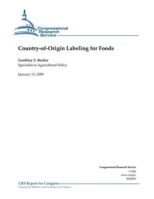 Primary view of object titled 'Country-of-Origin Labeling for Foods'.