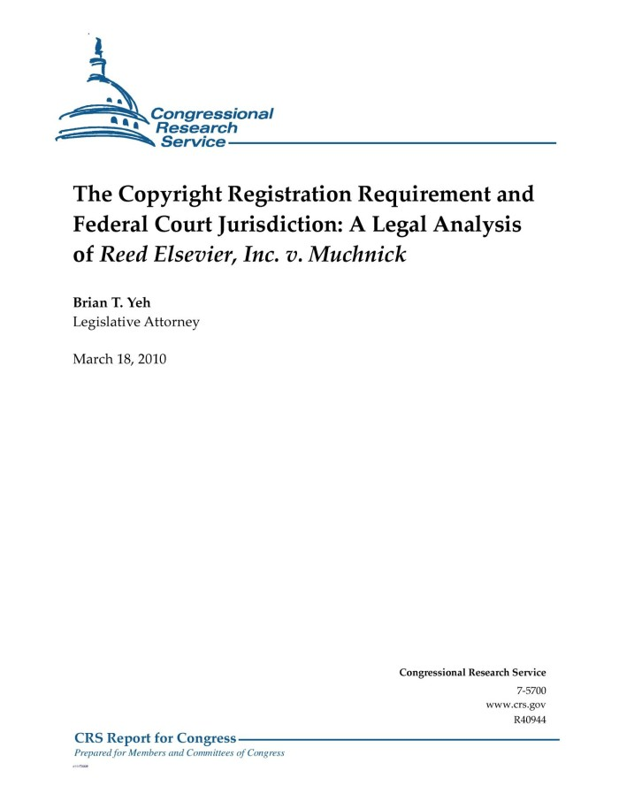 The Copyright Registration Requirement and Federal Court