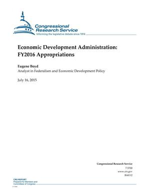 Primary view of object titled 'Economic Development Administration: FY2016 Appropriations'.