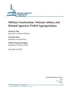 Primary view of object titled 'Military Construction, Veterans Affairs, and Related Agencies: FY2013 Appropriations'.