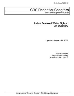 Primary view of object titled 'Indian Reserved Water Rights: An Overview'.