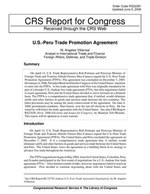 Primary view of object titled 'U.S.-Peru Trade Promotion Agreement'.