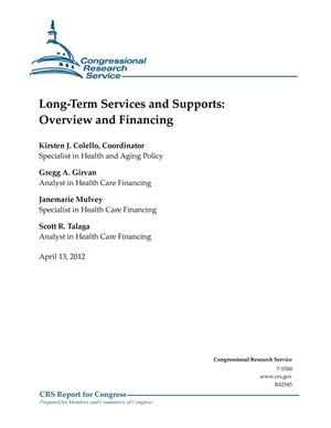 Primary view of object titled 'Long-Term Services and Supports: Overview and Financing'.