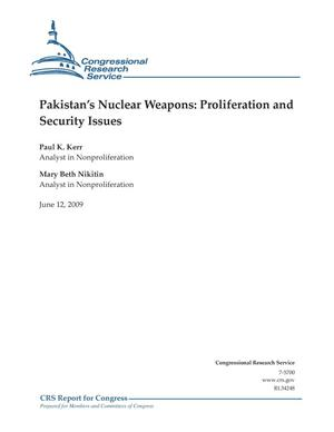 Primary view of object titled 'Pakistan's Nuclear Weapons: Proliferation and Security Issues'.