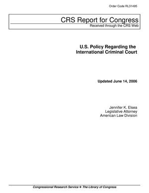 Primary view of object titled 'U.S. Policy Regarding the International Criminal Court'.
