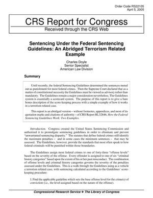 Primary view of object titled 'Sentencing Under the Federal Sentencing Guidelines: An Abridged Terrorism Related Example'.