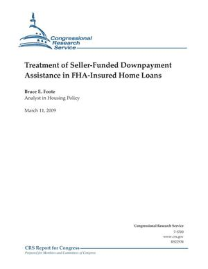 Primary view of object titled 'Treatment of Seller-Funded Downpayment Assistance in FHA-Insured Home Loans'.