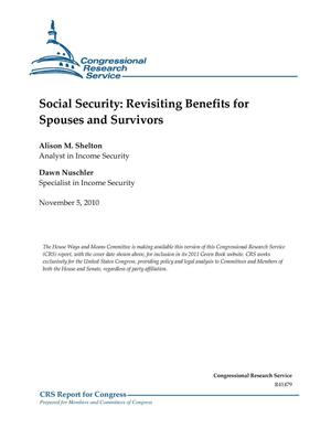 Primary view of object titled 'Social Security: Revisiting Benefits for Spouses and Survivors'.