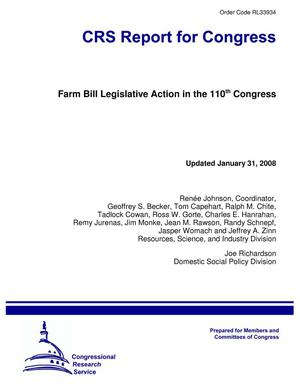 Primary view of object titled 'Farm Bill Legislative Action in the 110th Congress'.