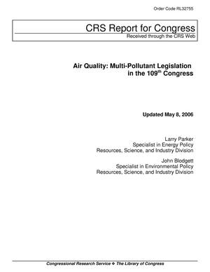 Primary view of object titled 'Air Quality: Multi-Pollutant Legislation in the 109th Congress'.