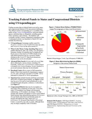 Primary view of object titled 'Tracking Federal Funds to States and Congressional Districts using USAspending.gov'.