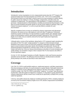 Essays on sexual orientation discrimination ordinance