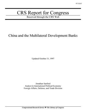 Primary view of object titled 'China and the Multilateral Development Banks'.
