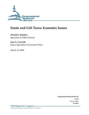 Primary view of object titled 'Estate and Gift Taxes: Economic Issues'.