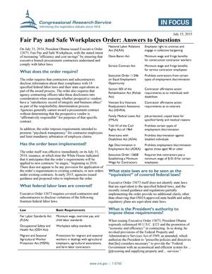 Primary view of object titled 'Fair Pay and Safe Workplaces Order: Answers to Questions'.