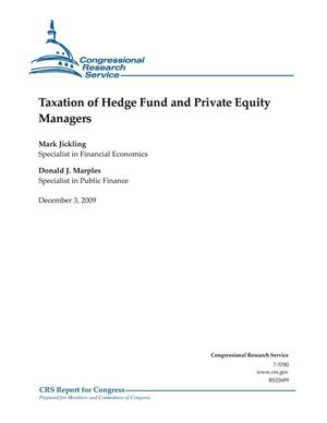 Primary view of object titled 'Taxation of Hedge Fund and Private Equity Managers'.