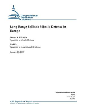 Primary view of object titled 'Long-Range Ballistic Missile Defense in Europe'.
