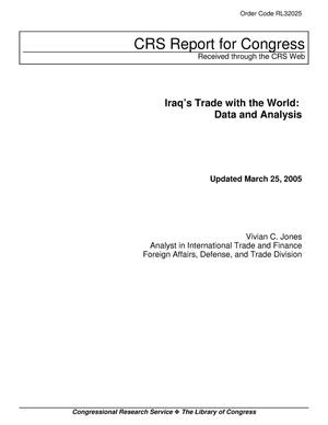 Primary view of object titled 'Iraq's Trade with the World: Data and Analysis'.