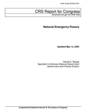 Primary view of object titled 'National Emergency Powers'.