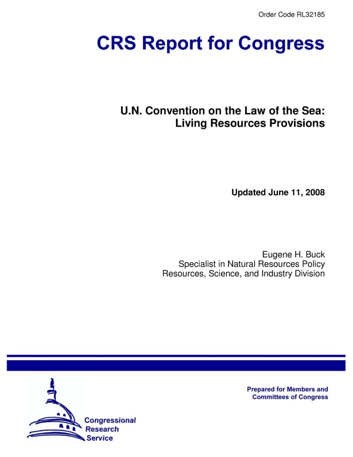 Primary View Of Object Titled UN Convention On The Law Sea Living