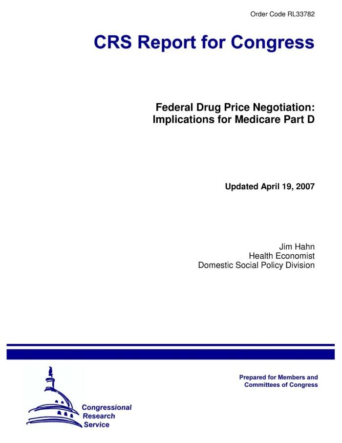 Medicare negotiate drug prices